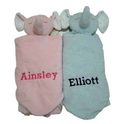 Twin Gifts - Angel Dear Elephant Security Blankets