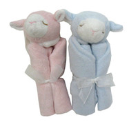 Twin Gifts - Two Angel Dear Lamb Security Blankies