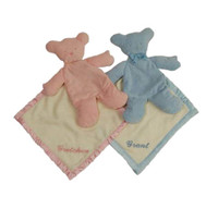 Pastel Security Blanket Bears. Personalized Security Blanket