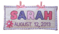 Baby Wall Hanging - Personalized Baby Gift