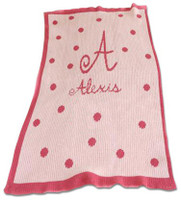 Butterscotch Blankee Personalized - PolkaDot Name/Initial