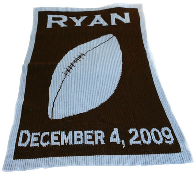 Butterscotch Blankee  - Personalized Football/name & birthdate