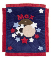 Boogie Baby Custom  Blanket- Navy & Red Sports