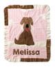 Custom Boogie Baby Ruffled Blanket - Good Dog Pink