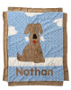 Custom Boogie Baby Blanket -Blue  Good Dog
