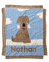 Custom Boogie Baby Blanket -Blue  Good Dog