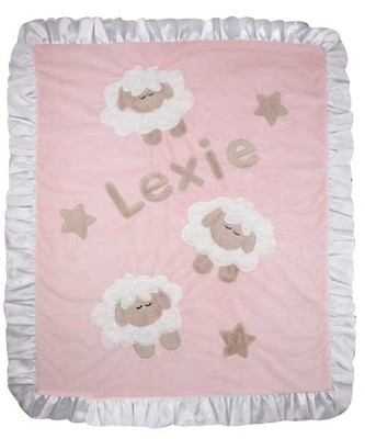 Custom Baby Blanket - Boogie Counting Sheep Pink Crib