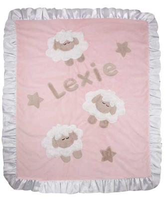 Custom Baby Blanket - Boogie Counting Sheep Pink Crib