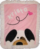 Custom Crib Blanket - Peekaboo Puppy Pink