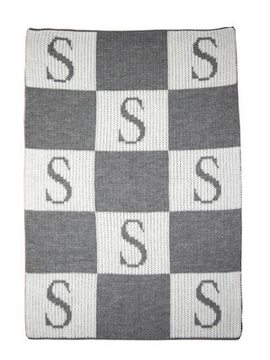 Initial and Block Blanket in Gray