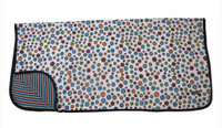 Organic Dot Swaddle Blanket | Personalized Baby Blanket