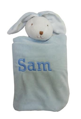 Angel Dear Personalized Security Blanket - Blue Bunny