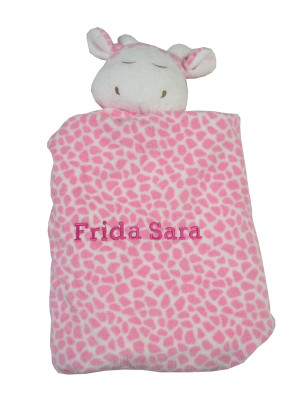 Angel Dear Personalized Security Blanket | Pink Giraffe