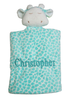 Angel dear blue giraffe napping blanket personalized baby gift giraffe personalized baby gift image 1 negle Choice Image