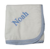 3 Marthas Personalized Receiving Blanket - Blue Gingham