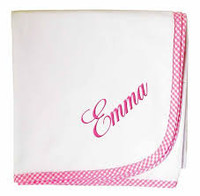 3 Marthas Personalized Swaddling Blanket | Gingham