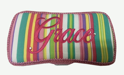 Personalized Travel Baby Wipe Case - Bright Stripes