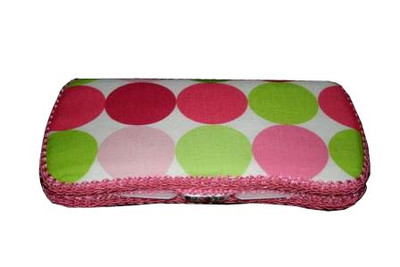 Personalized Travel Baby Wipe Case - Hot Dot Pink