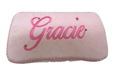 Personalized Travel Baby Wipe Case -   Minky Baby Pink