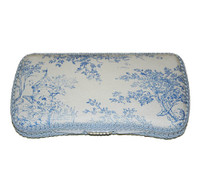 Personalized Travel Baby Wipe Case - Blue, Pink or Green Toile