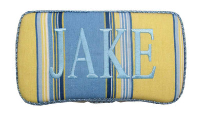 Baby Wipe Case | Blue & Yellow Stripes