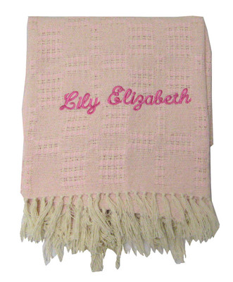Natural Eco-Friendly Handwoven Personalized Crib Blankets