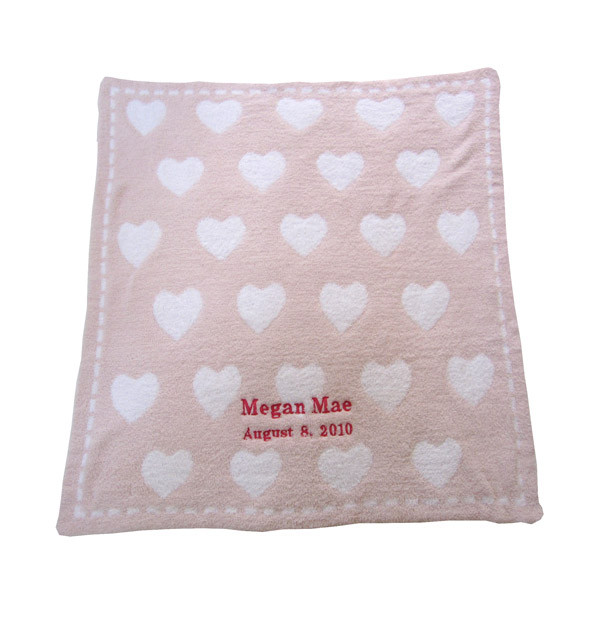 barefoot dreams personalized receiving blanket