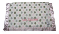 Little Giraffe Baby Blanket | Pink Luxe Dot