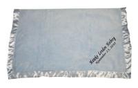 Elegant Baby blue Blanket- Personalized Baby Blanket