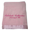 Elegant Baby Blanket | Pink Personalized Blanket