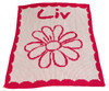 Butterscotch Blankee Crib - Flower/Name Scalloped