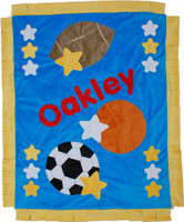 Custom Baby Blanket -  Boogie Baby Good Sports