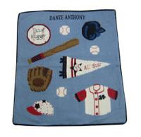 Baby Baseball Knit Blanket | Personalized Little League