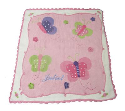 Baby Personalized Butterfly Blanket |  Art Walk