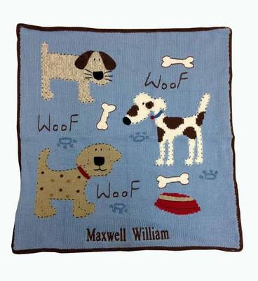 Art Walk Baby Blanket Woof Woof