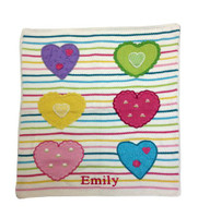 Baby Personalized Hearts Blanket | Art Walk
