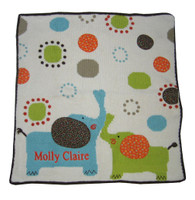 Baby Personalized Elephant Blanket | Art Walk