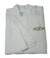 Gifts for Mom| Personalized Waffle Weave White Robe