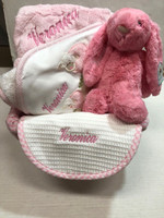 Personalized Baby Basket | Basket of Bunny & Lamb