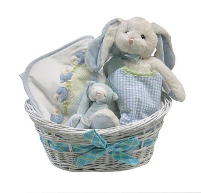 Baby Gift Basket |Personalized Lamb Basket