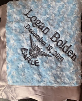 Corporate Logo Baby Blankets | Baby Boy Blanket with Name