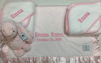 Luxury Personalized Baby Gift -   Towel and Luxurious Blanket