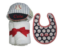 baseball bib and towel set