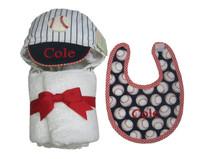 baseball bib and towel set