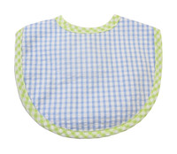 Personalized Baby Bib - 3 Marthas Blue Gingham