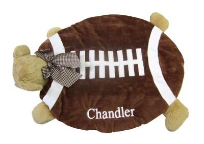 Bearington Bear -Football Bear Belly Blanke