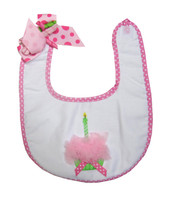 Birthday Bib - Pink Personalized Bib