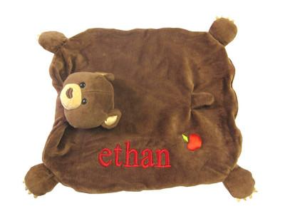 Organic Bear Cub Security Blanket - Apple Park Unisex Baby Gift