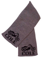 scarf with motorcycle