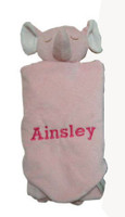 Angel Dear Napping Blankets - Personalized Pink Elephant Security Blanket